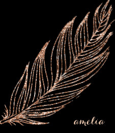 Rose Gold Faux Glitter Feather Personalised Journal