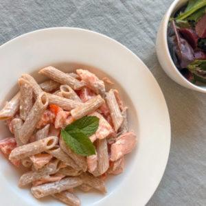Creamy Salmon & Tomato Pasta
