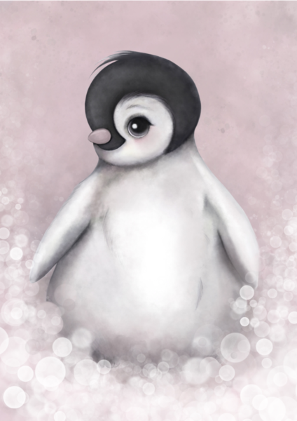 penguin art for kids