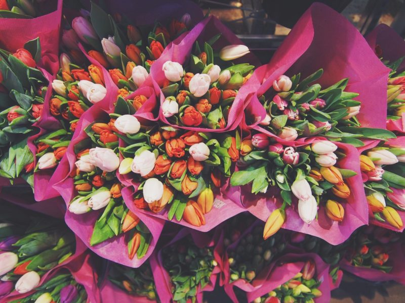 Colourful Tulip bouquets