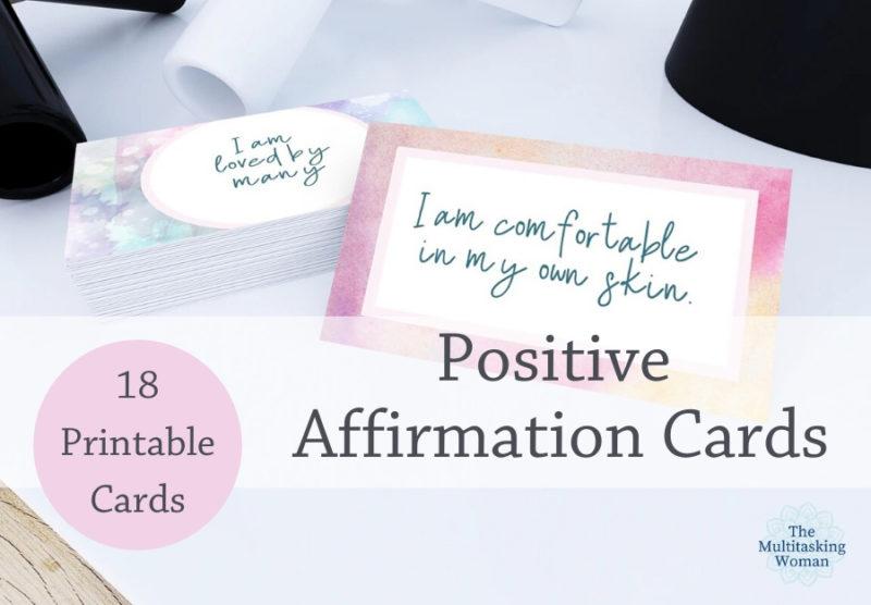 Printable Positive Affirmation Cards