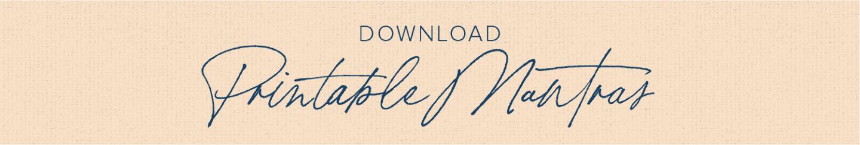 download printable mantras