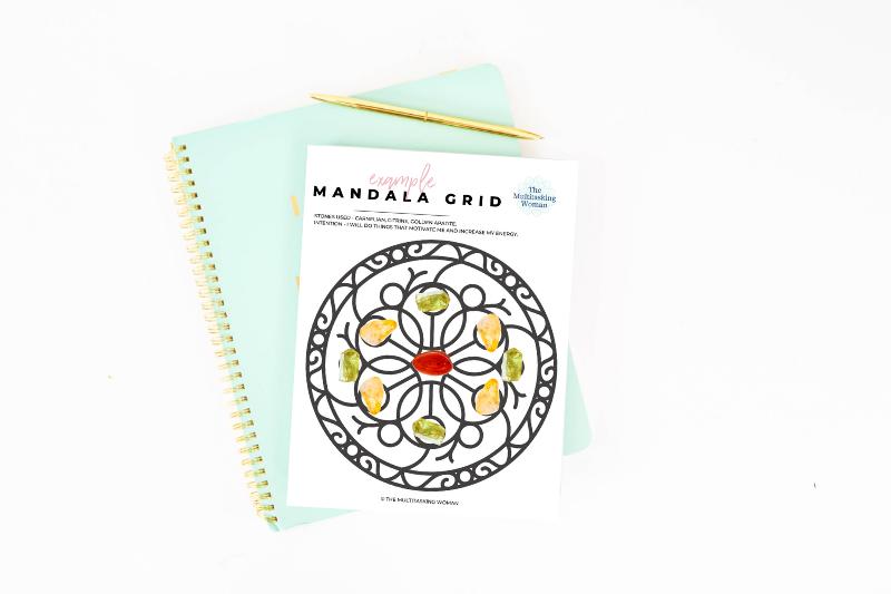 printable mandala grid for intention setting