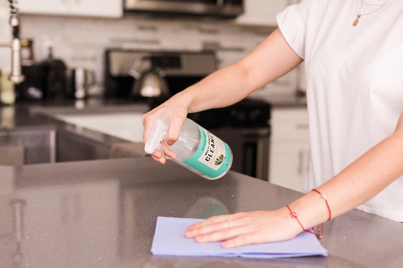woman with OCD cleaning